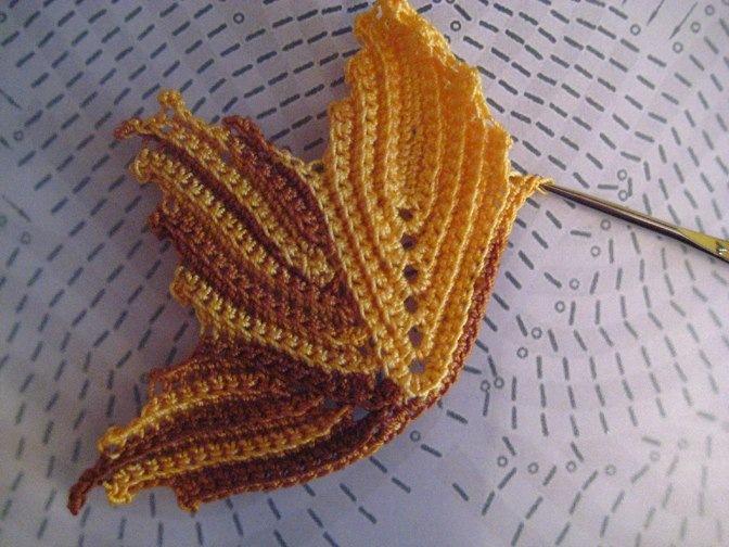 Вязание кленовых листочков крючком