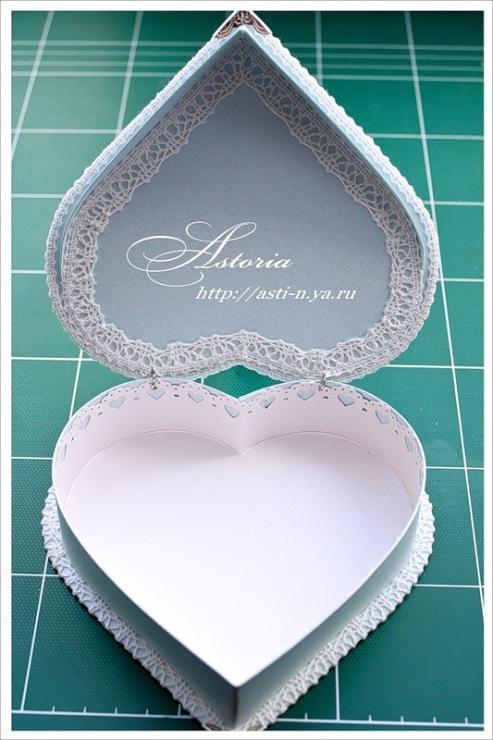 Как сделать коробочку в виде сердечка