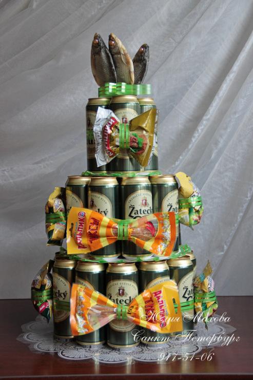 Мужские подарки своими руками из пива 450