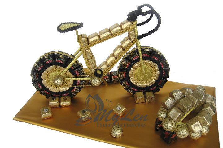 Велосипед из конфет мастер класс с пошаговым фото