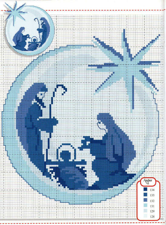 Вышивка на рождество схемы