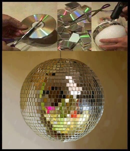 Как сделать старых дисков шар