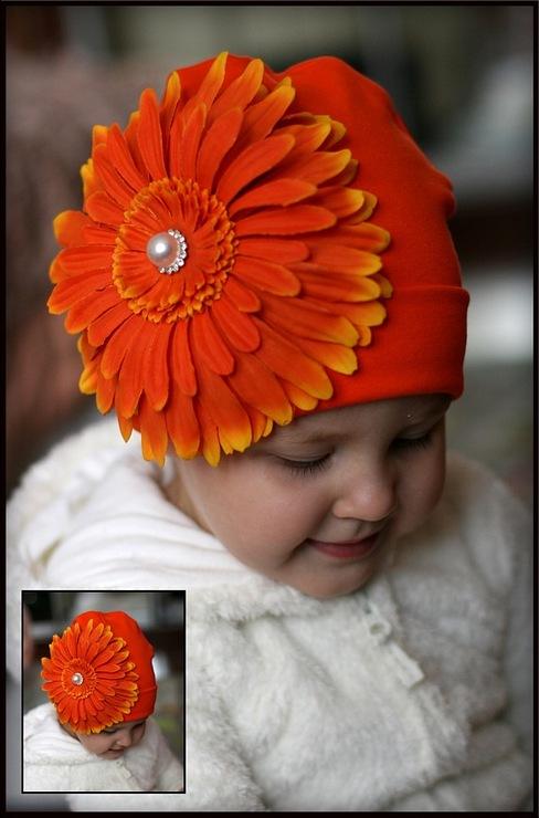 Цветы из трикотажа на шапку