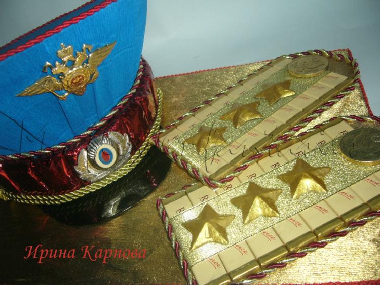 Подарок десантнику из конфет 35