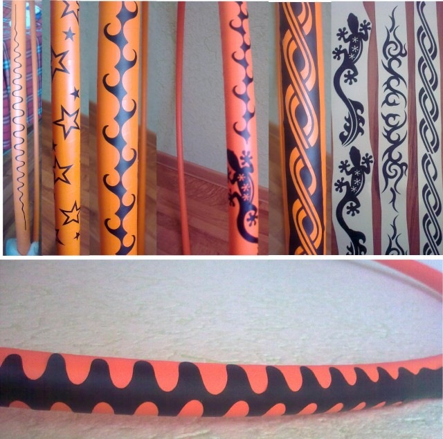 Дизайн обмотки обруча для художественной гимнастики