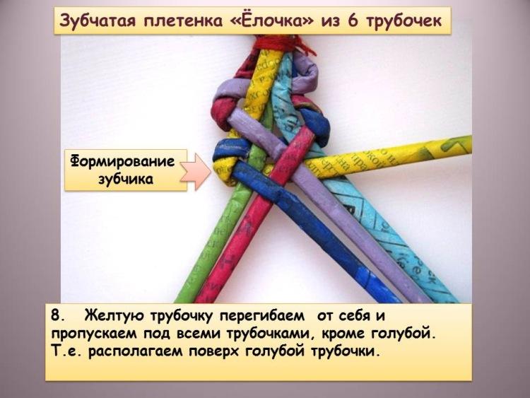 Плетение из газетных трубочек мастер класс зубатки