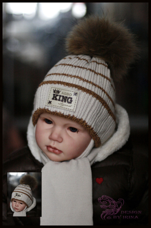 вязанные шапки для мальчиков с ушками на спицах до 2 лет со схемами 2013