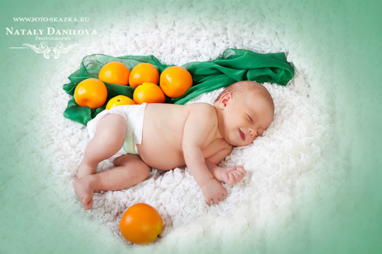 Фотосессия с новорожденным в домашних условиях