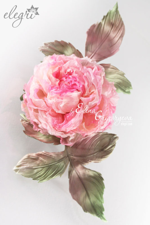Брошь цветок из ткани фото