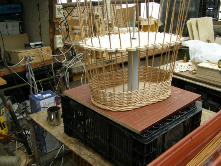 Плетение корзин на шаблоне