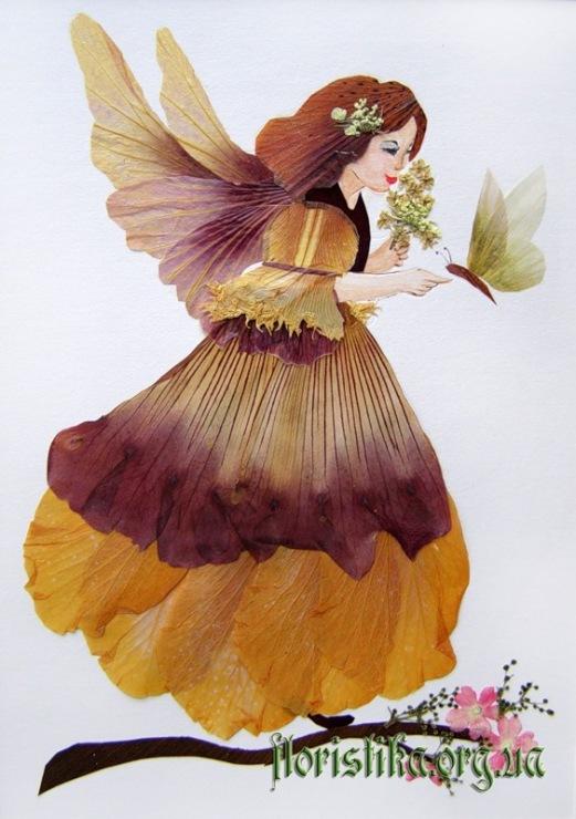 Поделки из цветов засушенных