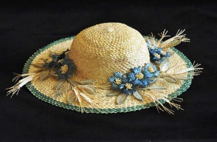 Соломенная шляпка мастер класс