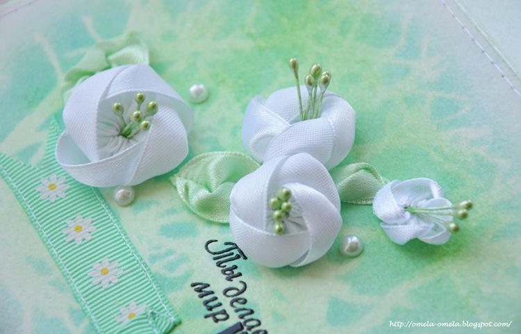 Мастер класс цветочки из атласной ленты