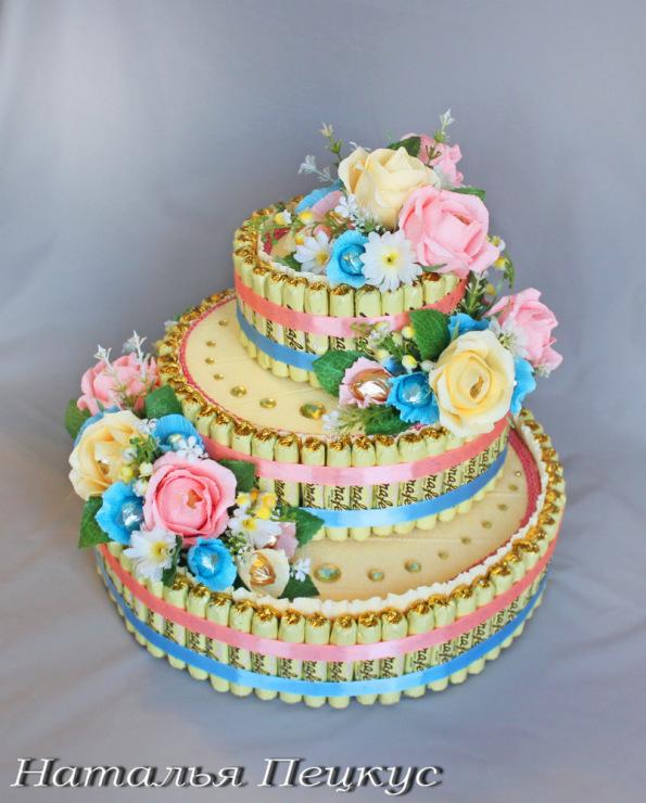 Торти з цукерок фото