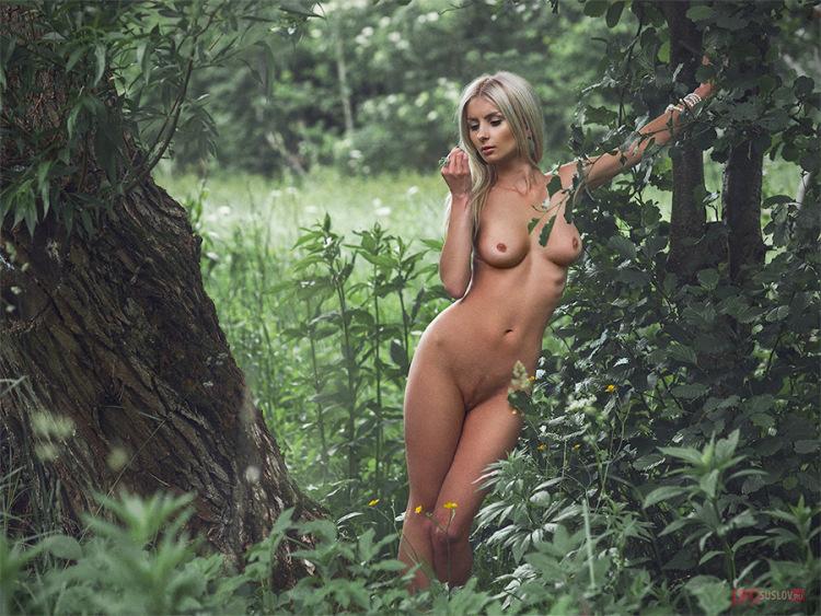 фото голые девушки в лесу