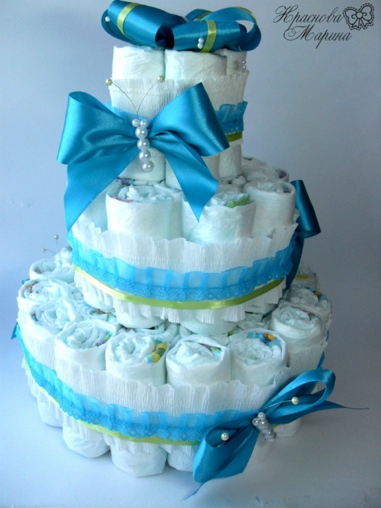 Торт из 27 памперсов своими руками 96