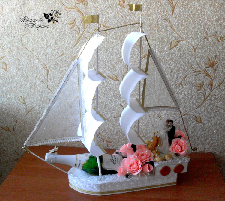 Корабль своими руками на свадьбу пошаговое фото 30