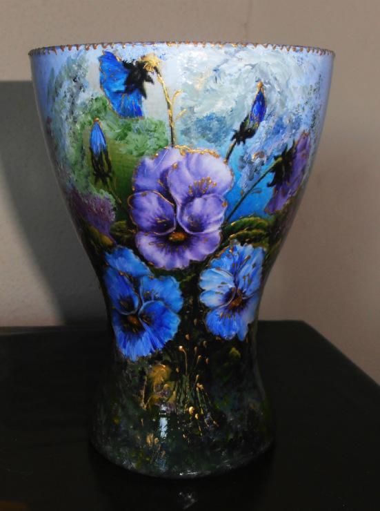 Мастер класс вазы роспись