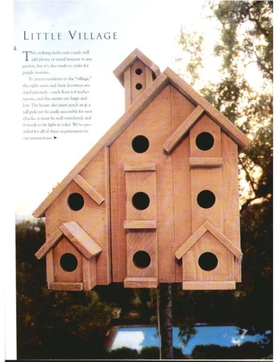 Как сделать птицам дом