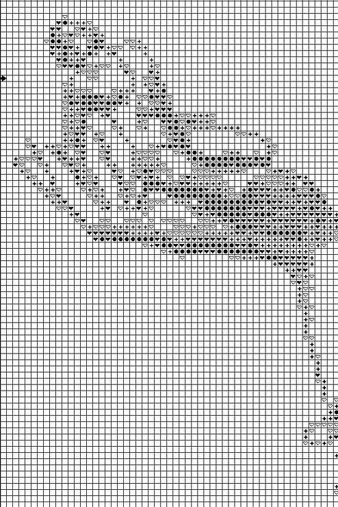 Схемы для вышивки крестом графика в теплых тонах