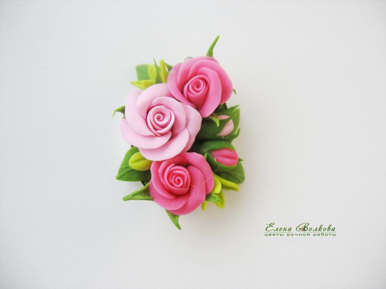 Поделки из полимерной глины своими руками розу 97