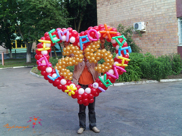 Подарки из воздушных шаров своими руками