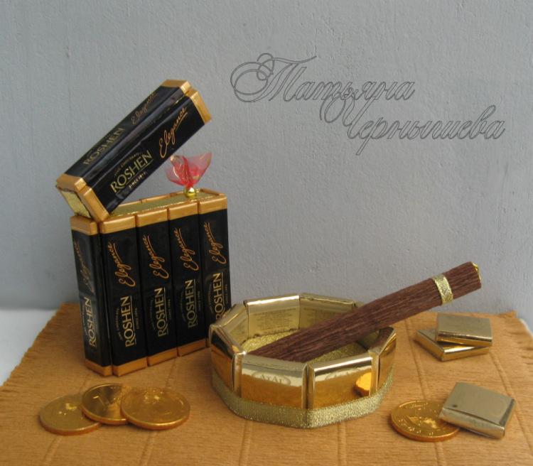 Подарки из конфет для мужчины мастер класс
