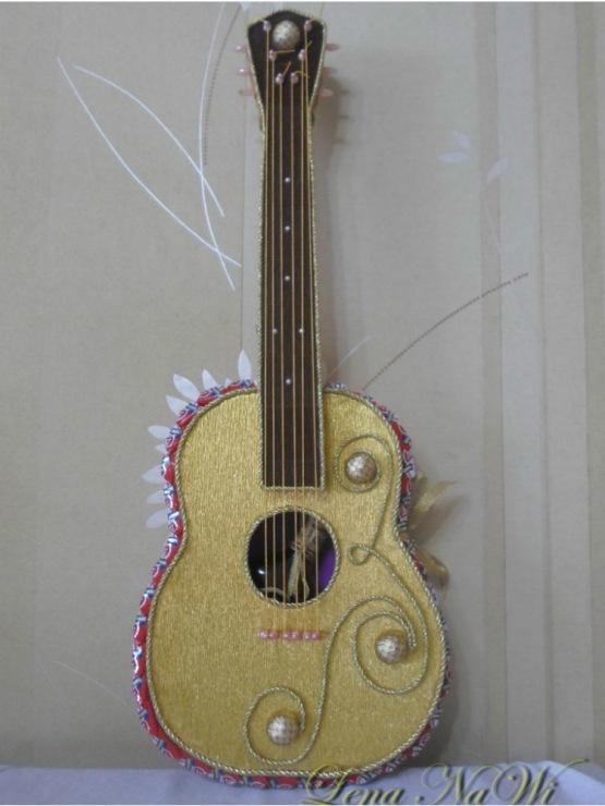 Как сделать гитару своими руками из картона пошаговое фото 37