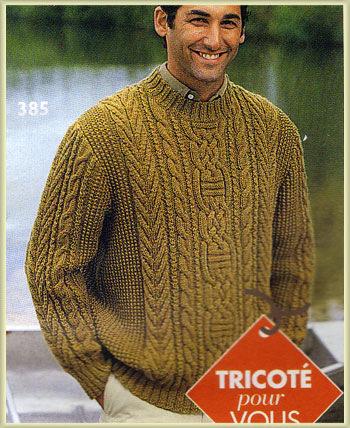 Мужские Пуловеры С Аранами