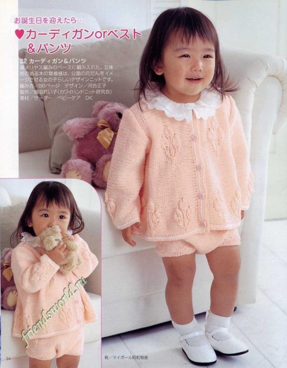 Красивые дети модели вязания 699