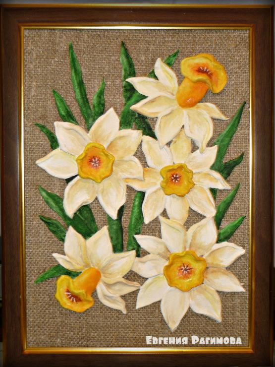 Соленое тесто поделки цветы 90