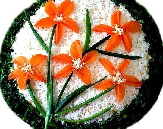 Как украсить салаты своими руками к дню рождения