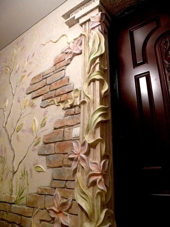 Гипсовая лепнина на стену
