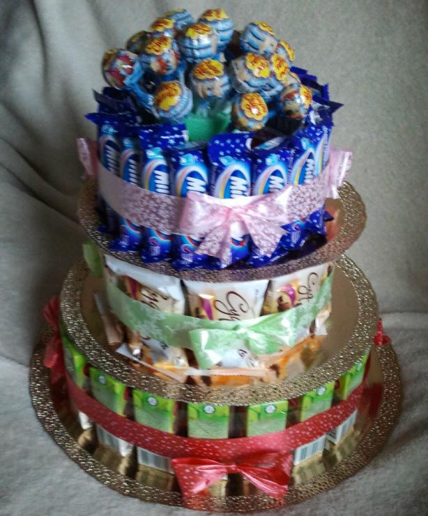 Торт из конфет и сока своими руками пошаговое 57