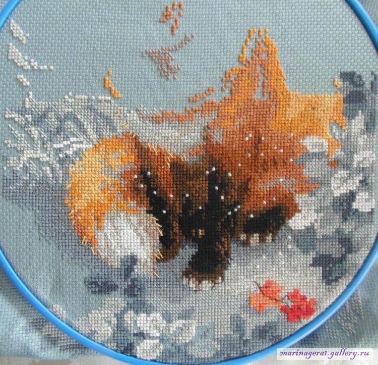 Лисичка вышивка риолис 99