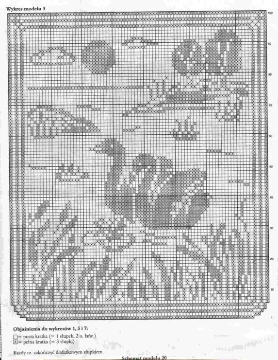 Филейное вязание схемы картин крючком схемы 52