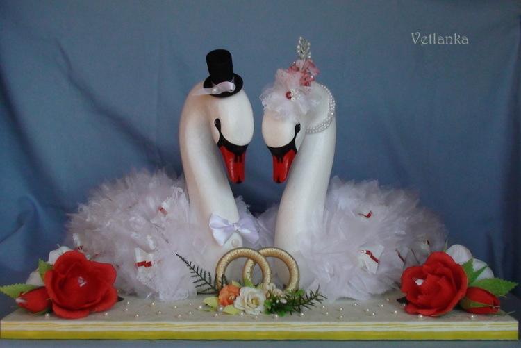 Лебеди подарок на свадьбу своими руками
