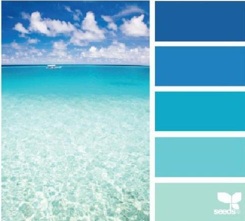 Как сделать море голубым в